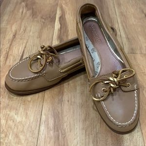Sperry Top-Sider Gold Glitter Boat Shoe Size 6M